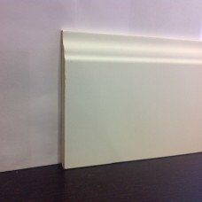 Плинтус Luciano, Английский белый МДФ 110*14 мм