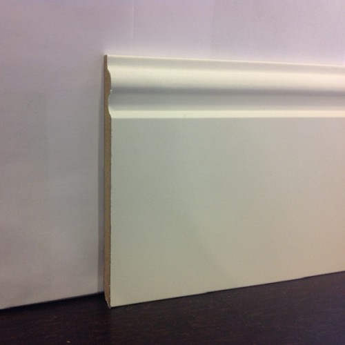 Плинтус Luciano, Французский белый МДФ 110*14 мм