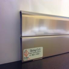 Плинтус Luciano,кол.Alluaboard, Алюминий с коробом полированный, Алюминий 67*15 мм